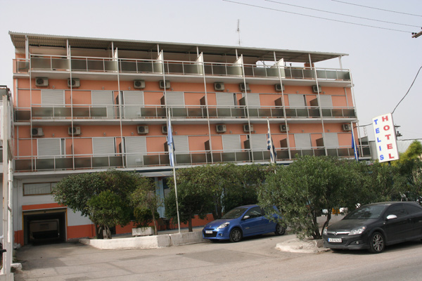 Outdoor view of the hotel